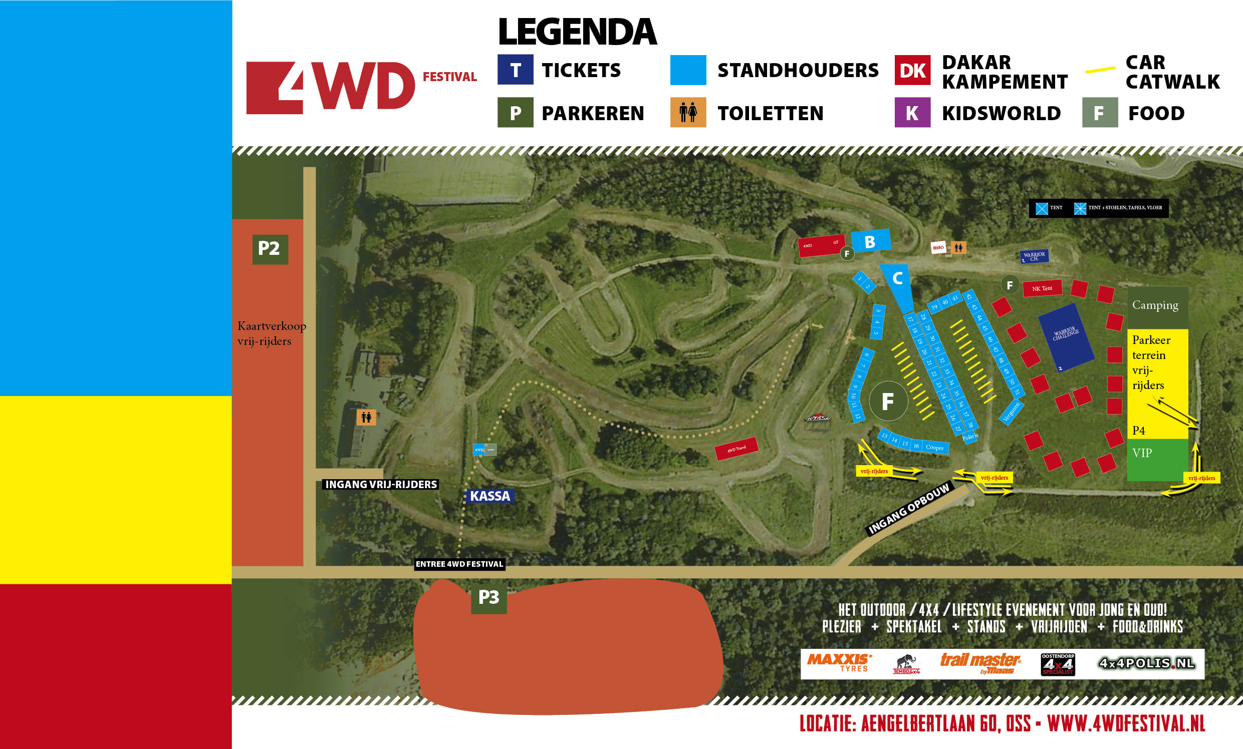 4WD Festival plattegrond